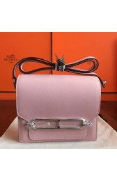 Hermes Mini Sac Roulis Bag In Rose Dragee Swift Leather Replica HJ01003