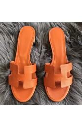 Hermes Orange Epsom Oasis Sandals Replica HJ00967