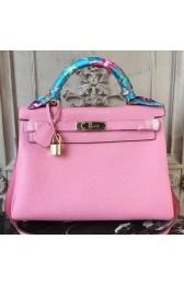 Hermes Pink Clemence Kelly 28cm Bag Replica HJ00922