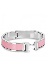 Hermes Pink Enamel Clic H PM Bracelet Replica HJ00417