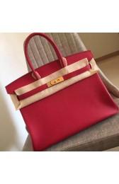 Hermes Red Clemence Birkin 30cm Handmade Bag HJ00924