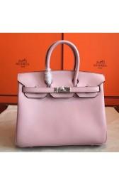 Hermes Rose Dragee Swift Birkin 25cm Handmade Bag HJ00895