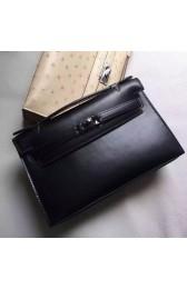 Hermes So Black Kelly Pochette Handmade Bag Replica HJ01075