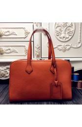 Hermes Victoria II 35cm Bag In Orange Leather Replica HJ00226