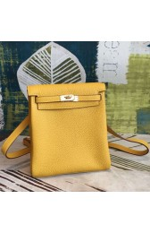 Hermes Yellow Clemence Kelly Ado PM Backpack HJ00732