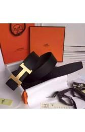 High End Hermes Black Epsom Kits Belt Constance Buckle HJ00244