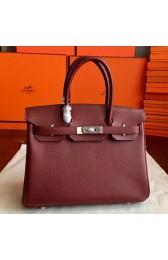 High End Hermes Bordeaux Epsom Birkin 35cm Handmade Bag HJ00991