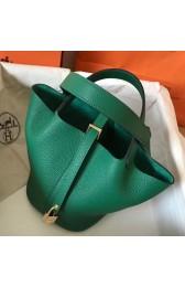 High Quality Imitation Hermes Vert Vertigo Picotin Lock PM 18cm Handmade Bag HJ00811