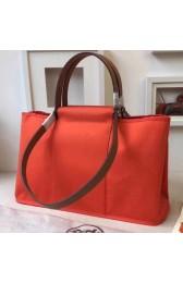 Imitation AAA Hermes Cabag Elan Bag In Capucine Canvas Replica HJ01357