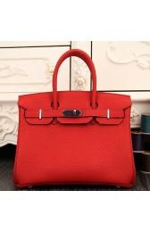 Imitation Fake Cheap Hermes Birkin 30cm 35cm Bag In Red Clemence Leather HJ00324