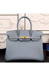 Imitation Hermes Birkin 30cm 35cm Bag In Blue Lin Epsom Leather HJ01139
