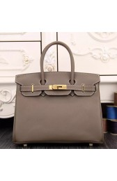 Imitation Hermes Birkin 30cm 35cm Bag In Etoupe Epsom Leather HJ00391
