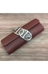 Imitation Hermes Handmade Egee Clutch In Havane Swift Leather HJ00977