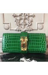 Imitation Hermes Medor Clutch Bag In Bamboo Crocodile Leather HJ00578