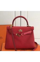 Imitation Hermes Red Clemence Kelly 25cm GHW Bag HJ01017