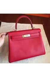 Imitation Hermes Red Epsom Kelly 32cm Sellier Handmade Bag HJ00669