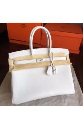 Imitation Hermes White Epsom Birkin 35cm Handmade Bag HJ00747