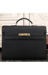 Knockoff 1:1 1:1 Hermes Black Kelly Depeche 38cm Briefcase Bag HJ00464