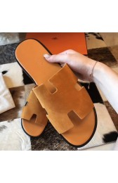 Knockoff Fashion Hermes Izmir Sandals In Orange Suede Leather HJ00994