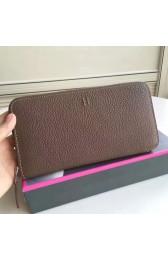 Knockoff Hermes Etoupe Clemence Azap Zipped Wallet HJ00632