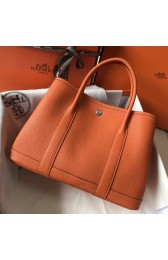 Luxury AAA Knockoff Hermes Orange Clemence Garden Party 30cm Handmade Bag HJ00062