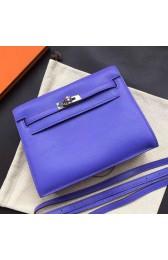 Luxury Hermes Kelly Danse Bag In Blue Swift Leather HJ00234