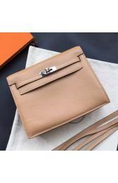 Luxury Imitation Hermes Kelly Danse Bag In Brown Swift Leather HJ00155
