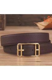 Luxury Perfect Replica Hermes Chocolate Cape Cod 32 Reversible Belt HJ01126