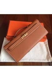 Luxury Replica Hermes Gold Swift Kelly Cut Clutch Handmade Bag HJ00588