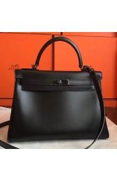 Luxury Replica Hermes So Black Box Kelly Retourne 32cm Handmade Bag HJ00723