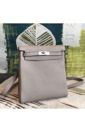 New AAA Hermes Gris Asphalt Clemence Kelly Ado PM Backpack HJ01212