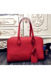 New Hermes Victoria II 35cm Bag In Red Leather HJ00694