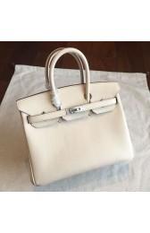 Perfect Hermes Beige Epsom Birkin 25cm Handmade Bag HJ00339