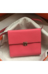 Replica 1:1 Hermes Rose Lipstick Clic 16 Wallet With Strap HJ00934