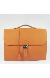 Replica Fashion Hermes Orange Sac A Depeches 38cm Briefcase Bag Replica HJ00162