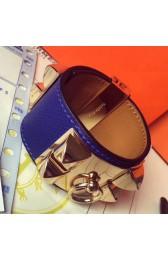 Replica Hermes Blue Epsom Collier De Chien Bracelet Size S HJ01105