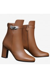 Replica Hermes Brown Joueuse Ankle Boots HJ00809