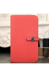 Replica Hermes Dogon Combine Wallet In Rose Lipstick Leather HJ00143