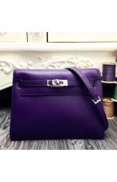 Replica Hermes Kelly Danse Bag In Purple Swift Leather HJ00612