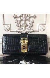Replica Hermes Medor Clutch Bag In Black Crocodile Leather HJ00709