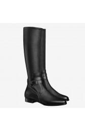 Replica Hermes Soria Boots In Black Calfskin Leather Replica HJ00849