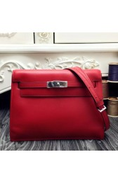 Replica High Quality AAA Imitation Hermes Kelly Danse Bag In Red Swift Leather HJ00136
