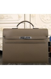 Replica Imitation Hermes Grey Kelly Depeche 38cm Briefcase Bag HJ00090