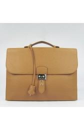 Replica Knockoff Hermes Brown Sac A Depeches 38cm Briefcase Bag HJ00666