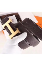Replica Knockoff Hermes H Belt Buckle & Chocolate Clemence 32 MM Strap HJ00900