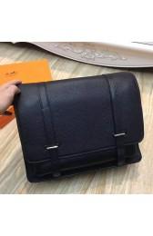 Replica Luxury Hermes Black Steve 35 Messenger Bag Replica HJ01300