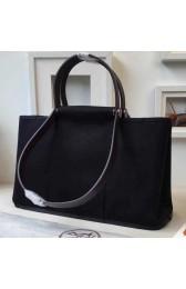 Replica Luxury Replica Hermes Cabag Elan Bag In Black Canvas HJ00235