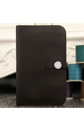 Replica Replica Hot Hermes Dogon Combine Wallet In Chocolate Leather HJ01305