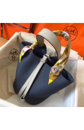 Top Hermes Bicolor Picotin Lock MM 22cm Sapphire Bag HJ00469