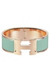 Top Quality Hermes Aqua Enamel Clic Clac H PM Bracelet HJ00947